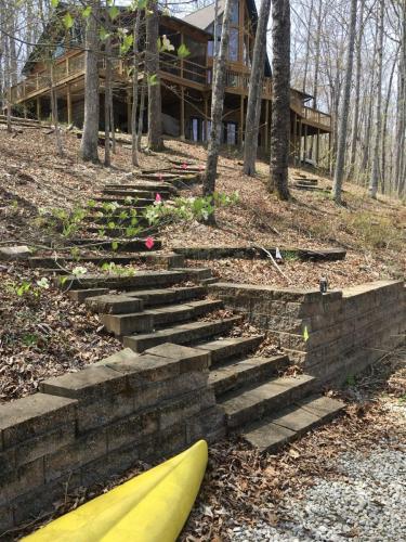 Long stone stairway