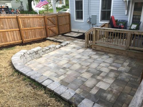 Paver backyard and wall