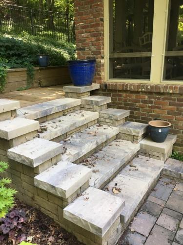 Paver and stone steps